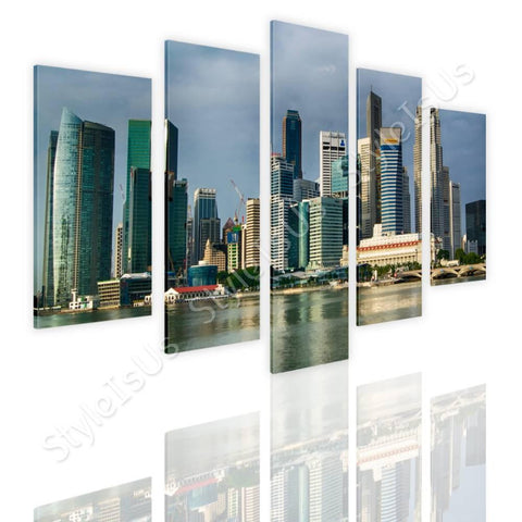 Split 5 panels Singapores Skyscrapers 5 Panels | Canvas, Posters, Prints & Stickers - StyleIsUS.com