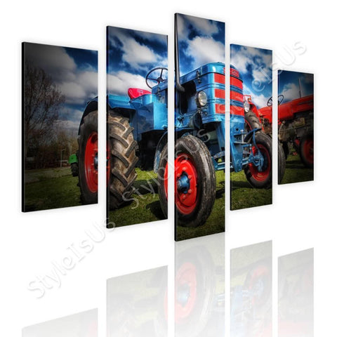 Split 5 panels Tractor Agriculture 5 Panels | Canvas, Posters, Prints & Stickers - StyleIsUS.com