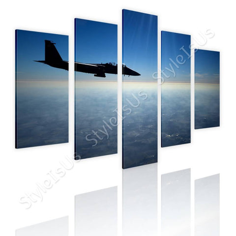 Split 5 panels US Air force Jet F15 5 Panels | Canvas, Posters, Prints & Stickers - StyleIsUS.com