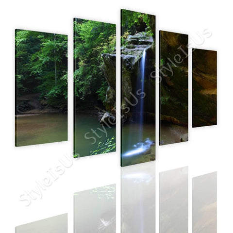 Split 5 panels Waterfall stream 5 Panels | Canvas, Posters, Prints & Stickers - StyleIsUS.com