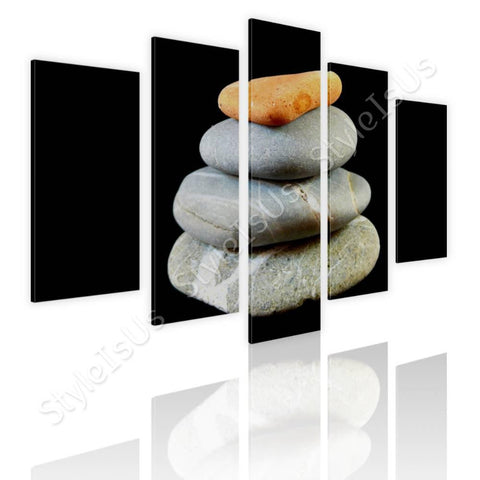 Split 5 panels Zen Balanced stones 5 Panels | Canvas, Posters, Prints & Stickers - StyleIsUS.com