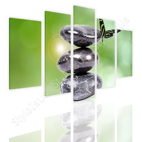 Split 5 panels Zen Stones in nature 5 Panels | Canvas, Posters, Prints & Stickers - StyleIsUS.com