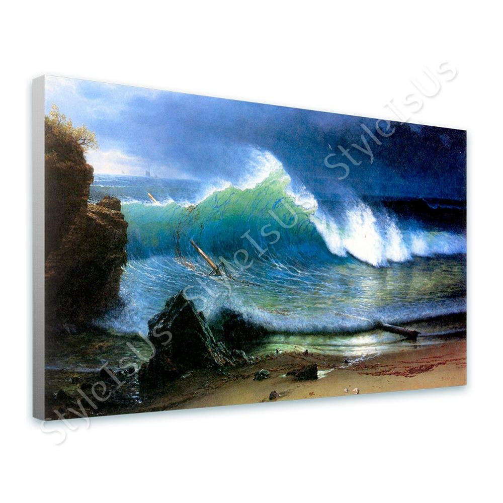 Albert Bierstadt Shore Turquoise Sea | Canvas, Posters, Prints & Stickers - StyleIsUS.com