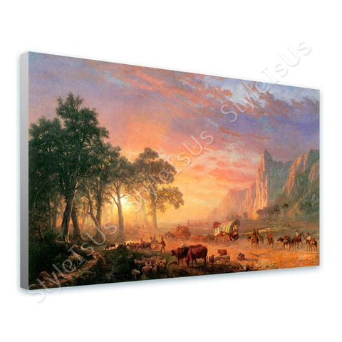 Albert Bierstadt Oregon Trail | Canvas, Posters, Prints & Stickers - StyleIsUS.com