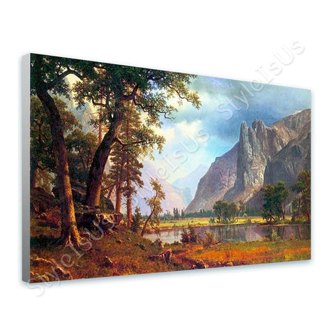 Albert Bierstadt Yosemite Valley | Canvas, Posters, Prints & Stickers - StyleIsUS.com