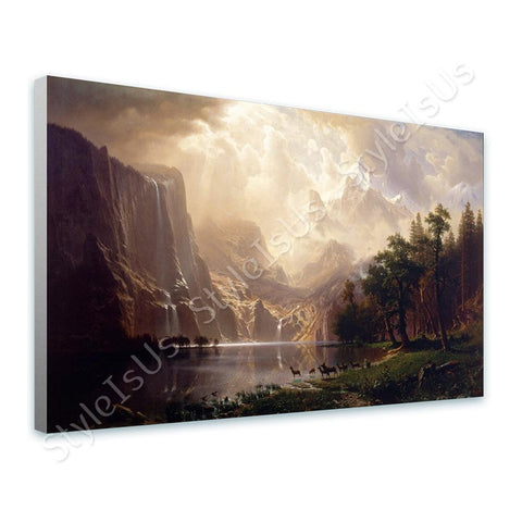 Albert Bierstadt Sierra Nevada Mountains | Canvas, Posters, Prints & Stickers - StyleIsUS.com