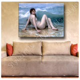 William Bouguereau The Wave | Canvas, Posters, Prints & Stickers - StyleIsUS.com