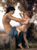 William Bouguereau Young Girl Against Eros | Canvas, Posters, Prints & Stickers - StyleIsUS.com