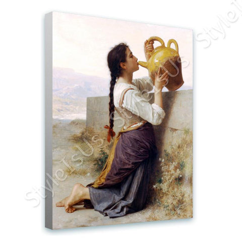 William Bouguereau Thirst | Canvas, Posters, Prints & Stickers - StyleIsUS.com