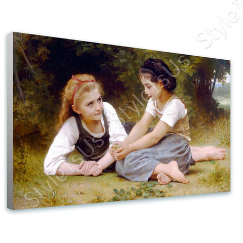 William Bouguereau The Nut Gatherers | Canvas, Posters, Prints & Stickers - StyleIsUS.com