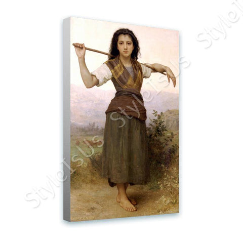 William Bouguereau The Shepherdess | Canvas, Posters, Prints & Stickers - StyleIsUS.com