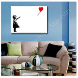 Banksy Red Balloon Girl | Canvas, Posters, Prints & Stickers - StyleIsUS.com