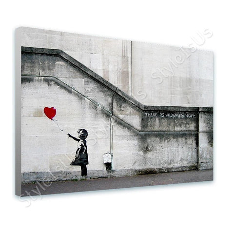 Banksy There Is Always Hope | Canvas, Posters, Prints & Stickers - StyleIsUS.com
