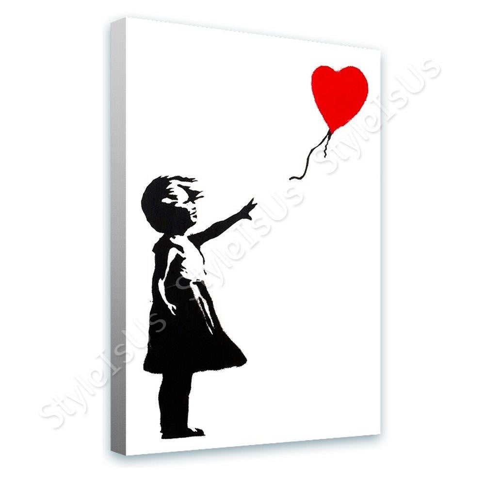 Banksy Girl Balloon | Canvas, Posters, Prints & Stickers - StyleIsUS.com