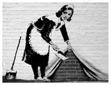 Banksy Sweeper | Canvas, Posters, Prints & Stickers - StyleIsUS.com