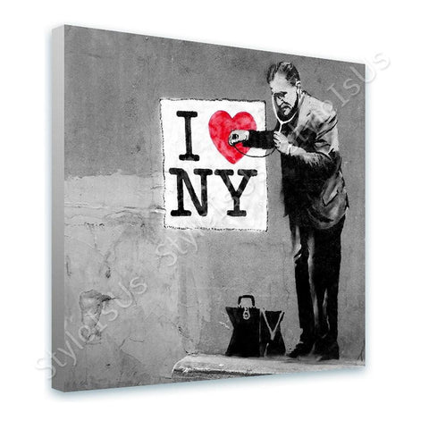 Banksy Doctor NY | Canvas, Posters, Prints & Stickers - StyleIsUS.com
