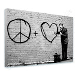 Banksy Doctor Peace Love | Canvas, Posters, Prints & Stickers - StyleIsUS.com