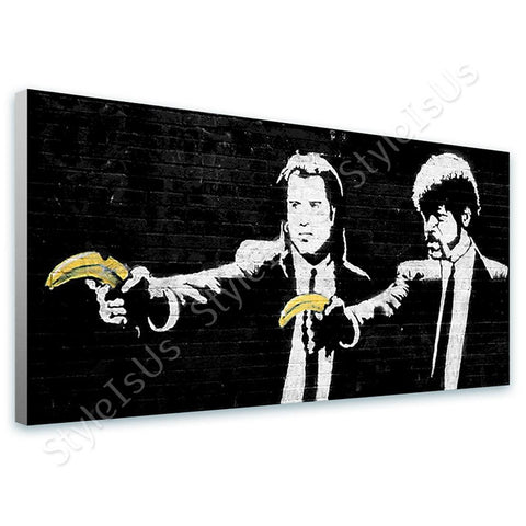 Banksy Pulp Fiction | Canvas, Posters, Prints & Stickers - StyleIsUS.com