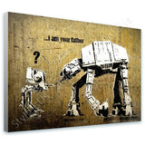 Banksy Star Wars I Am Your Father | Canvas, Posters, Prints & Stickers - StyleIsUS.com