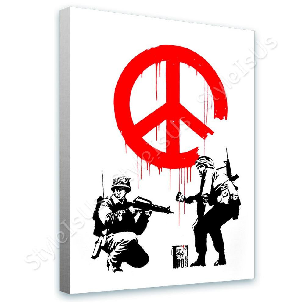 Banksy CND Soldiers | Canvas, Posters, Prints & Stickers - StyleIsUS.com
