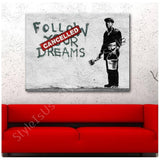 Banksy Follow Your Dreams | Canvas, Posters, Prints & Stickers - StyleIsUS.com