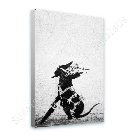 Banksy Rat With Dollar Eyes and Jigsaw | Canvas, Posters, Prints & Stickers - StyleIsUS.com