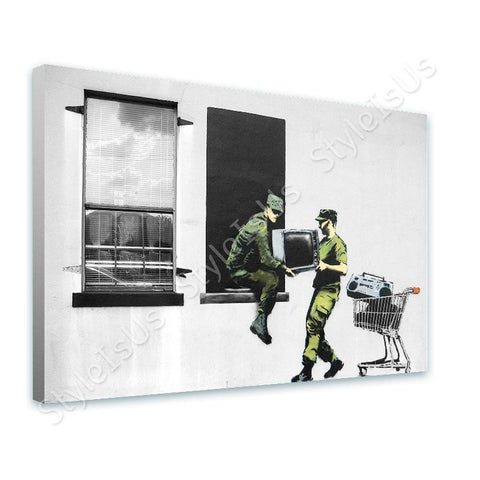 Banksy Looting Soldiers | Canvas, Posters, Prints & Stickers - StyleIsUS.com
