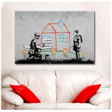 Banksy Crayon House | Canvas, Posters, Prints & Stickers - StyleIsUS.com