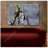 Banksy Girl Searching Soldier | Canvas, Posters, Prints & Stickers - StyleIsUS.com