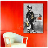 Banksy B Boy with Dance Mat | Canvas, Posters, Prints & Stickers - StyleIsUS.com