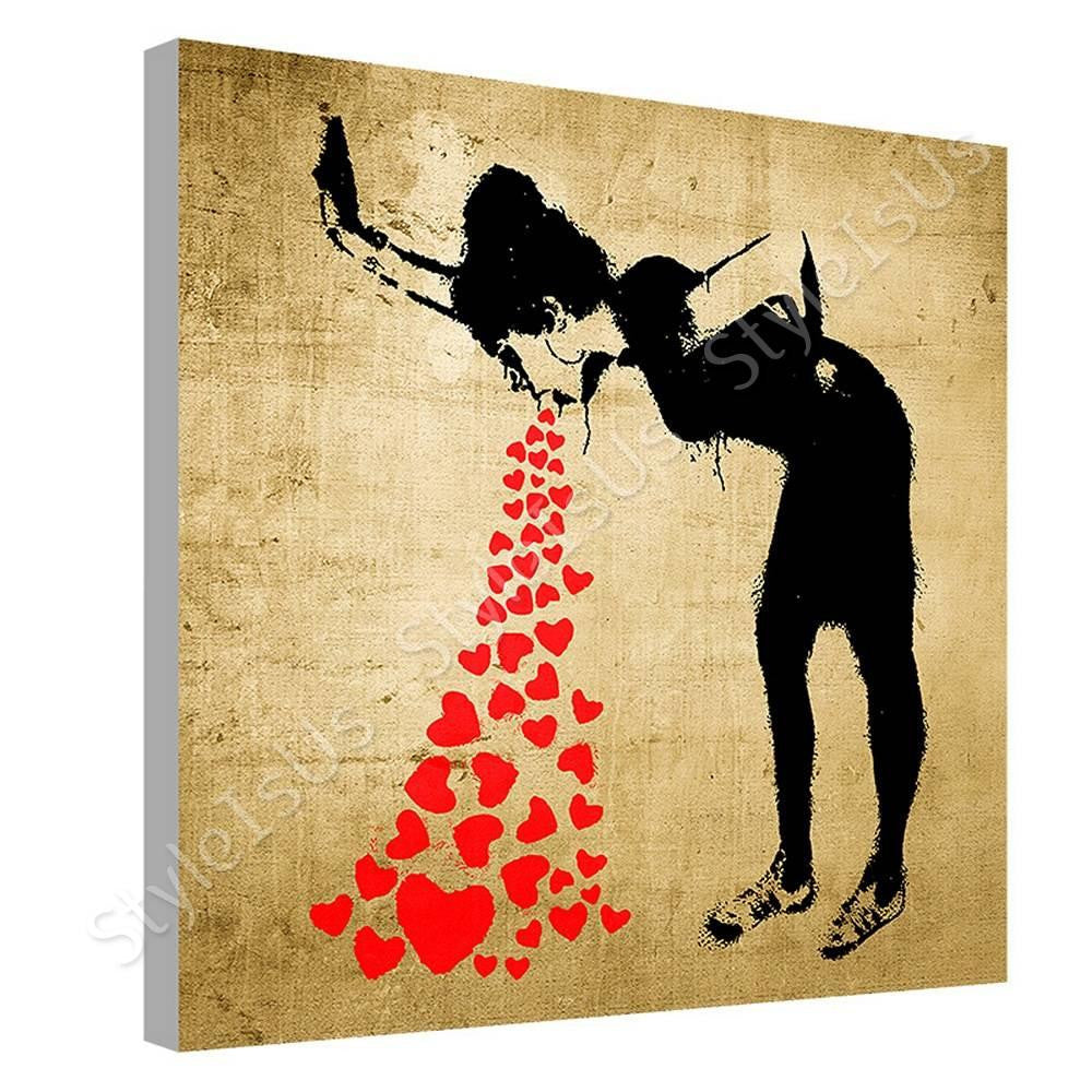 Banksy Lovesick | Canvas, Posters, Prints & Stickers - StyleIsUS.com ...