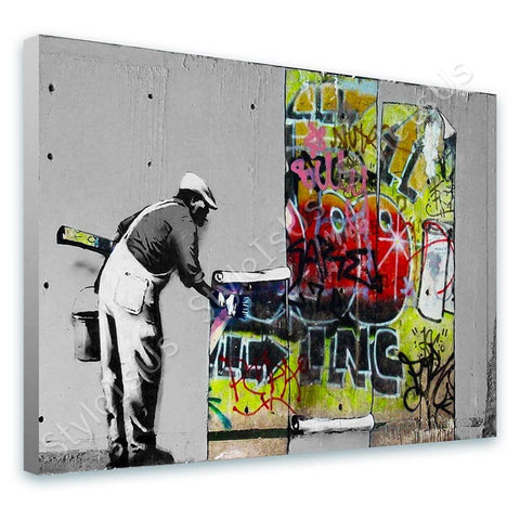 Banksy Banksy vs Robbo | Canvas, Posters, Prints & Stickers - StyleIsUS.com
