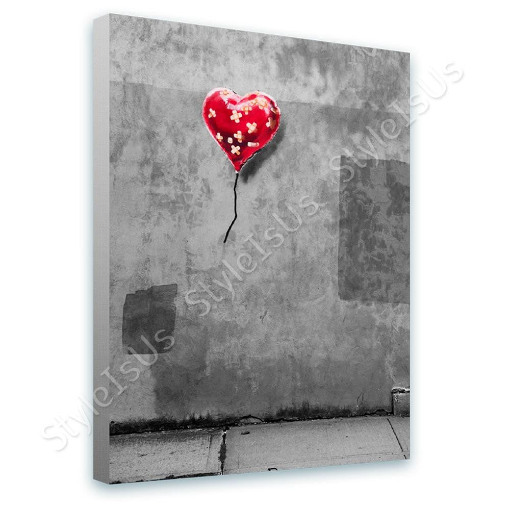 Banksy Heart Balloon Plaster | Canvas, Posters, Prints & Stickers - StyleIsUS.com