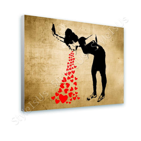 Banksy Lovesick | Canvas, Posters, Prints & Stickers - StyleIsUS.com