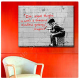 Banksy One Original Thought | Canvas, Posters, Prints & Stickers - StyleIsUS.com