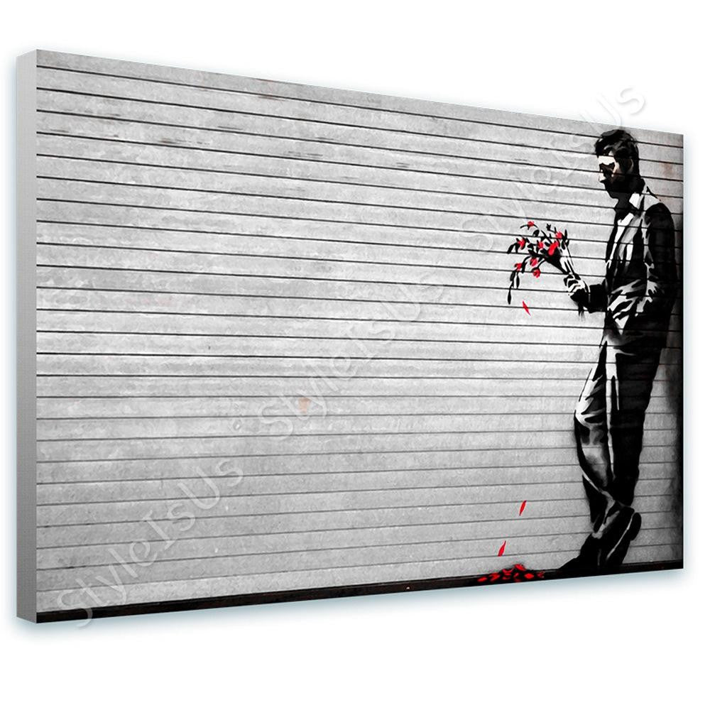 Banksy Waiting In Vain Hells Kitchen | Canvas, Posters, Prints & Stickers - StyleIsUS.com