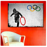 Banksy London Olympics | Canvas, Posters, Prints & Stickers - StyleIsUS.com