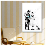 Banksy Dorothy Police Search | Canvas, Posters, Prints & Stickers - StyleIsUS.com