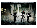Banksy Tv Heads | Canvas, Posters, Prints & Stickers - StyleIsUS.com
