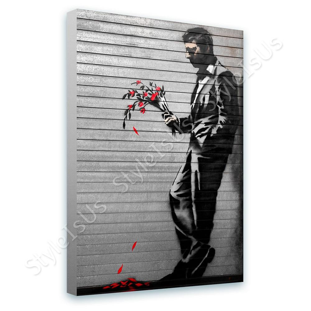 Banksy Hells Kitchen Waiting In Vain | Canvas, Posters, Prints & Stickers - StyleIsUS.com