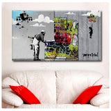 Banksy unique Collage robbo girl baloon | Canvas, Posters, Prints & Stickers - StyleIsUS.com