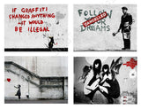 Banksy hope red baloon girl doctor Set Of 8 | Canvas, Posters, Prints & Stickers - StyleIsUS.com