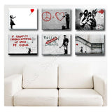 Banksy girl red baloon hope doctor Set Of 6 | Canvas, Posters, Prints & Stickers - StyleIsUS.com