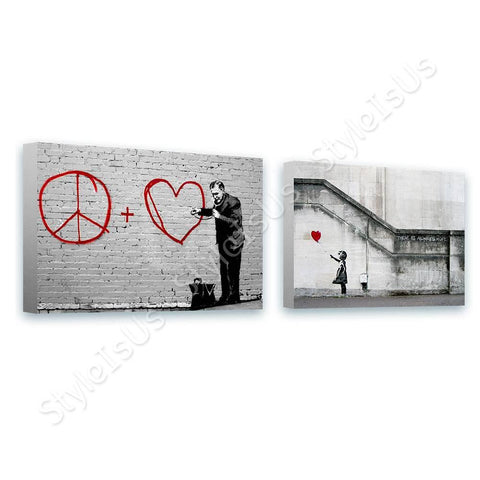 Banksy doctor girl hope Set Of 2 | Canvas, Posters, Prints & Stickers - StyleIsUS.com