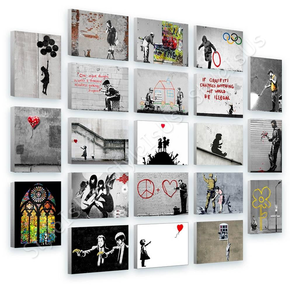 Banksy church glass window hope girl Set Of 21 | Canvas, Posters, Prints & Stickers - StyleIsUS.com