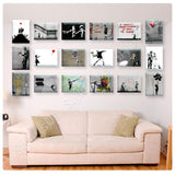 Banksy guns girl boy cryon baloon Set Of 18 | Canvas, Posters, Prints & Stickers - StyleIsUS.com