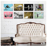 Banksy star wars pulp cryon boy Set Of 8 | Canvas, Posters, Prints & Stickers - StyleIsUS.com