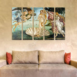 Sandro Botticelli The birth of Venus 5 Panels | Canvas, Posters, Prints & Stickers - StyleIsUS.com