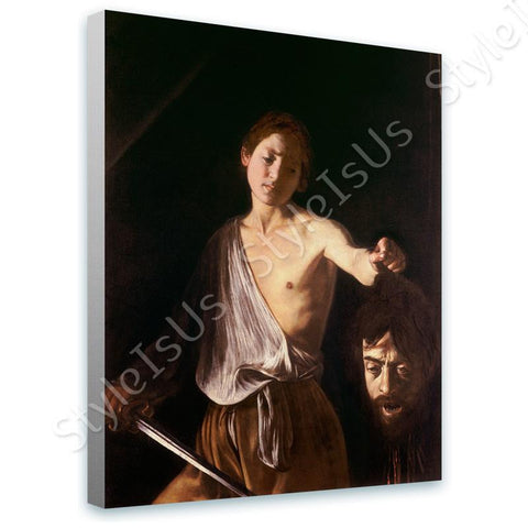 Caravaggio David with the Head of Goliath II | Canvas, Posters, Prints & Stickers - StyleIsUS.com