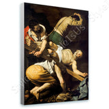 Caravaggio Crucifixion of Saint Peter | Canvas, Posters, Prints & Stickers - StyleIsUS.com